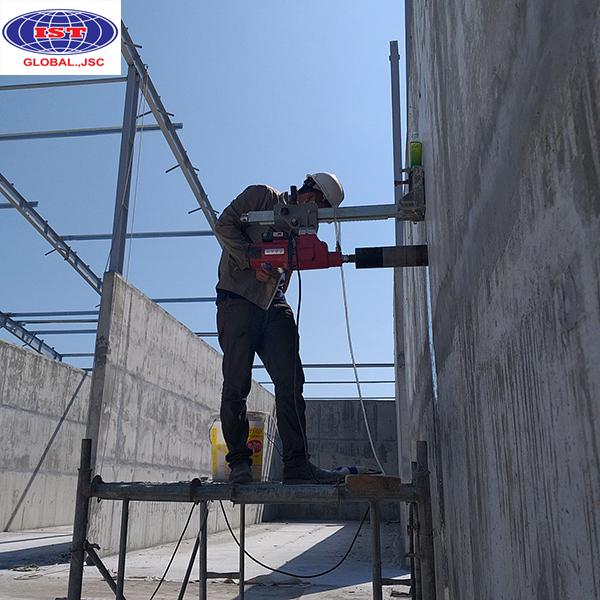 Thí nghiệm khoan rút lõi bê tông tại công trình Hưng Yên